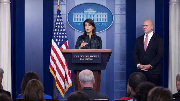 La embajadora de EE UU ante la ONU, Nikki Haley. (EFE)