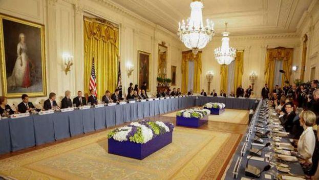 El presidente de EE UU inauguró la Cumbre de Seguridad Nuclear, una iniciativa personal de Obama cuya continuidad dependerá de su sucesor en el cargo. (Twitter)