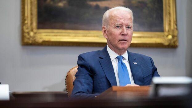El presidente de EE UU, Joe Biden, durante una reunión en la Casa Blanca este 12 de julio, en Washington. (EFE/Sarah Silbiger/Pool)