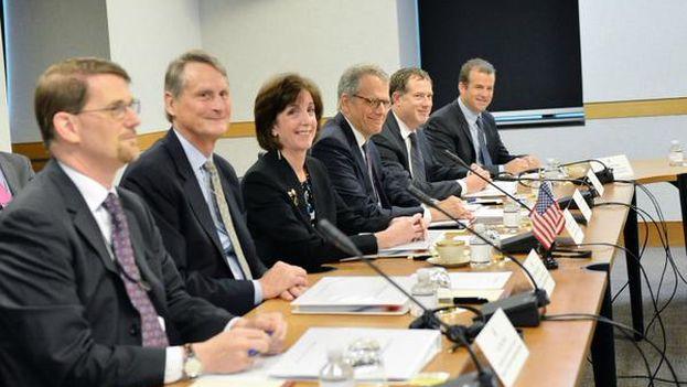 La delegación de EE UU en la cuarta ronda de negociaciones con Cuba. (Twitter)