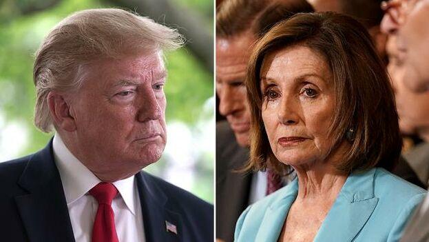 """Ea carta de Trump a Pelosi, el presidente exige a los demócratas el """"cese inmediato"""" del proceso de destitución política, que tildó de """"fantasía""""."""