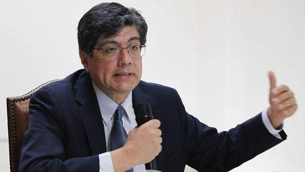 """""""Ecuador no continuará su participación dentro de la ALBA"""", anunció este jueves el ministro de Exteriores, José Valencia. (EFE)"""