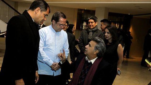 El presidente de Ecuador, Lenín Moreno, junto a su predecesor, Rafael Correa. (Presidencia de Ecuador)