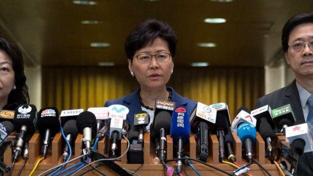La jefa del Ejecutivo hongkonés, Carrie Lam. (EFE)