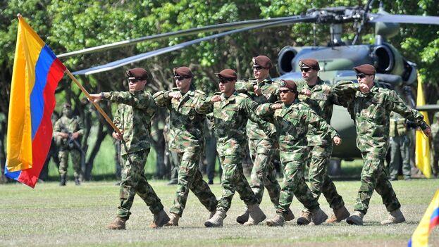 Ejército de Colombia durante maniobras. (EFE)