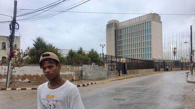 Embajada de EE UU en La Habana. (14ymedio)