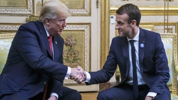 El presidente francés, Emmanuel Macron, y su homólogo estadounidense, Donald Trump, coincidieron este sábado en que Europa. (EFE)