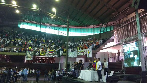 Encuentro ayer del Congreso Nacional de Juventudes para definir la estrategia de protestas contra el Gobierno. (@CNJuventudVzla)