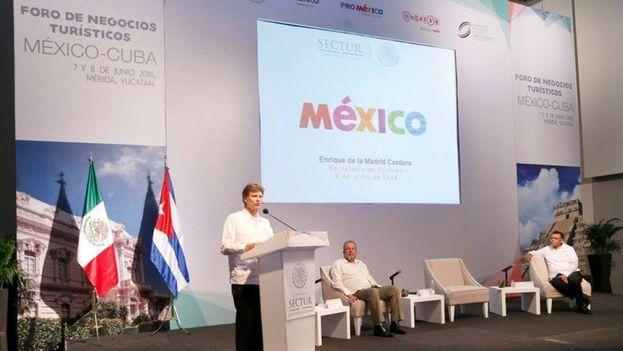 Enrique de la Madrid en el primer Foro México-Cuba. (Twitter)