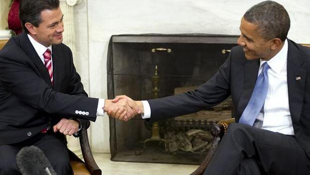 Enrique Peña Nieto y Barrack Obama reunidos en la Casa Blanca en 2012 (Casa Blanca)