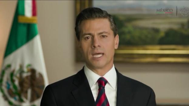 El presidente Enrique Peña Nieto se dirige a la nación el día de las elecciones al Congreso. (Presidencia de México)