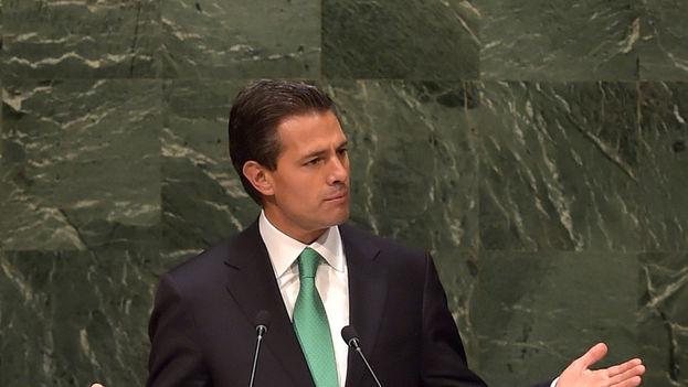 Enrique Peña Nieto durante una intervención en Naciones Unidas. (CC)