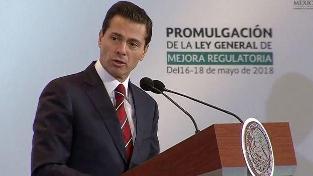Enrique Peña Nieto ofreció el apoyo de México para la investigación y atención del accidente. (Presidencia México)