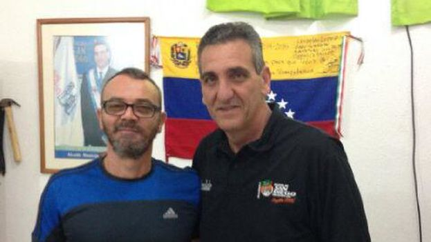 Enzo Scarano y Salvador Lucchese en imagen publicada por el exalcale en Twitter