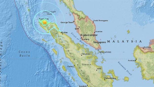 Epicentro del terremoto de este miércoles en Indonesia. (Unicef)