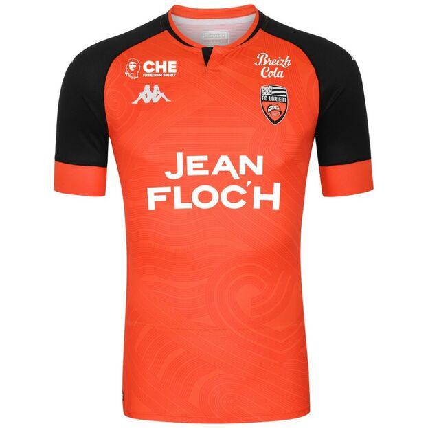 Equipación del FC Lorient para esta temporada y, al menos, las dos siguientes, con el logo de la bebida CHE Freedom Spirit. (Facebook FC Lorient)