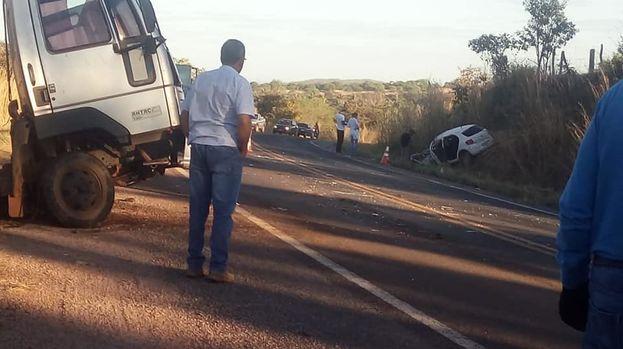 Escena del accidente en el que perdió la vida el médico cubano Luis Alberto Martinez Vila. (Facebook)