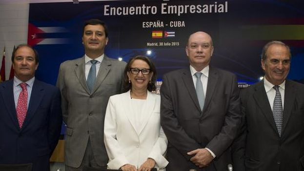 El encuentro España-Cuba organizado por la Confederación Española de Organizaciones Empresariales. (CEOE)