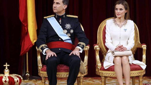 Los Reyes de España, Felipe VI y Letizia, durante un acto oficial. (EFE)