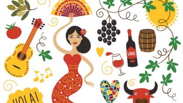La imagen de España suele ir asociada a varios tópicos, tal como muestra este collage. (Hosteltur)