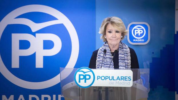 Esperanza Aguirre ha presentado este domingo su dimisión como presidenta del PP de Madrid. (EFE)
