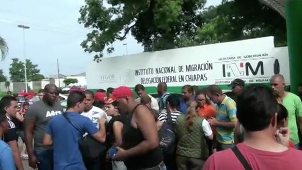 Estación migratoria Siglo XXI donde son retenidos los inmigrantes para su posterior deportación. (14ymedio)
