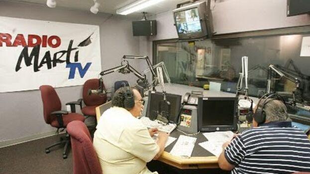 Estudio de Radio Martí. (Ecured)