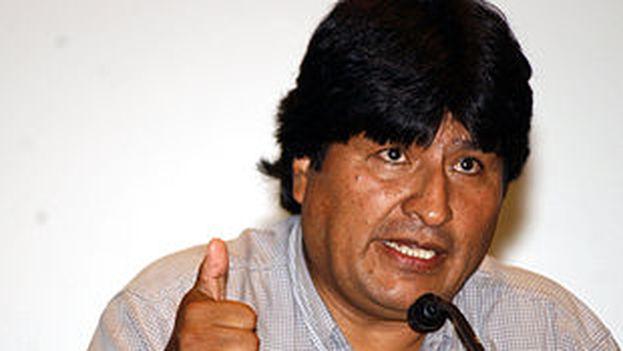 Evo Morales en una visita a Brasil (Fuente: wikipedia)