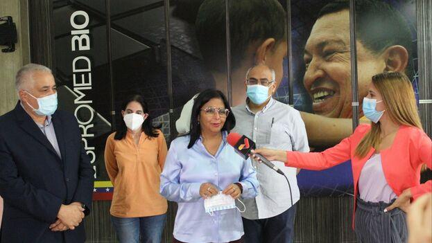 Expertos cubanos visitaron la planta de la Espromed Bio, donde verificaron las condiciones para la producción de la vacuna Abdala. (@Espromed_BIO)