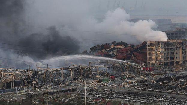 Explosiones en Tianjin. (Twitter)
