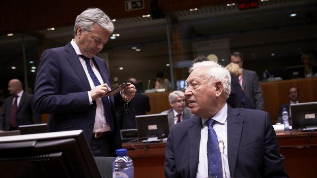 El ministro español de Exteriores y Cooperación en funciones, José Manuel García-Margallo, este lunes en Bruselas. (UE)
