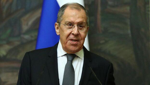El ministro ruso de Asuntos Exteriores, Serguéi Lavrov. (EFE/EPA/Russian Foreign Affairs Ministry)