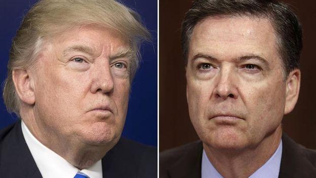 La declaración jurada rendida por el exdirector del FBI a los miembros del Comité de Inteligencia del Senado incluye más contradicciones respecto a lo dicho estos meses por Trump. (EFE)
