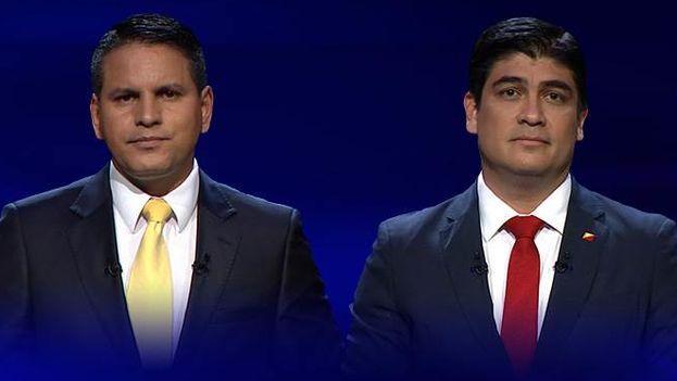 Fabricio Alvarado (izquierda) y Carlos Alvarado (derecha) se disputarán la presidencia en la segunda vuelta electoral de Costa Rica el próximo 1 de abril. (