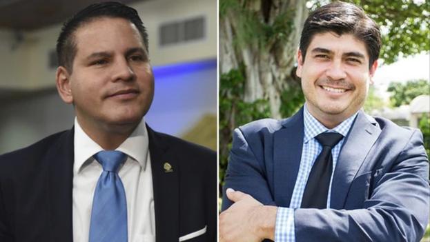 Las elecciones de este domingo decidirán si el próximo presidente es el conservador evangélico Fabricio Alvarado o el centroizquierdista Carlos Alvarado. (Infobae)