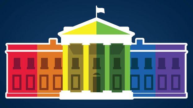 Foto de perfil de Facebook de la Casa Blanca, este viernes que se legalizó el matrimonio homosexual en todo el país. (Facebook/The White House)
