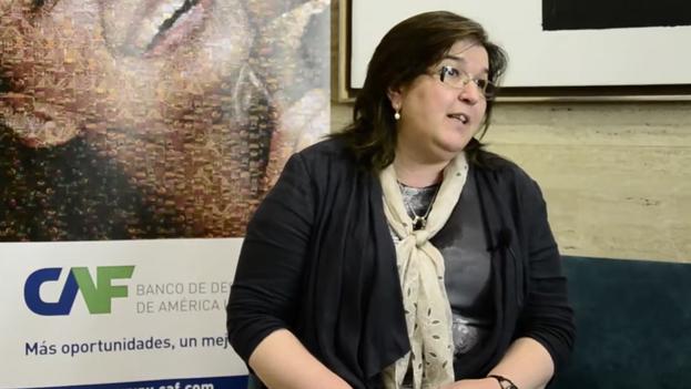 María Esther del Campo García, decana de la Facultad de Ciencias Políticas de la Complutense de Madrid y miembro de la Junta Electoral Central a propuesta de Podemos. (Captura)