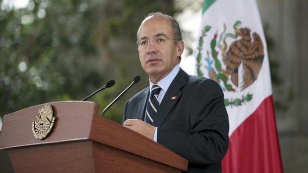 """Felipe Calderón fue calificado como """"pasajero inadmisible"""" en Cuba este martes. (EFE)"""