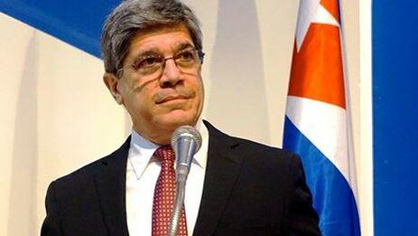 Fernández de Cossío argumentó que la ley Helms-Burton no es aplicable en Cuba porque es una norma de EE UU. (Minrex)