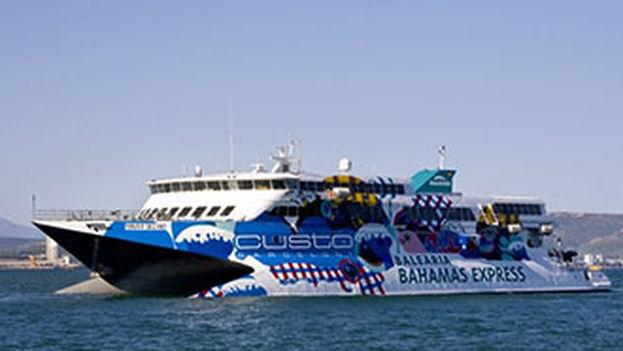 Ferry de alta velocidad 'Pinar del Río', de la empresa Baleària. (Baleària)