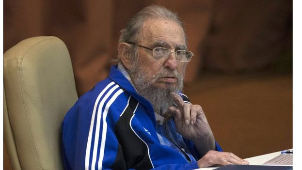 Fidel Castro durante una de sus últimas comparecencias