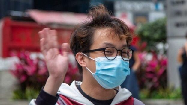 Figo Chan, coordinador del Frente Civil de Derechos Humanos, condenado este viernes. (@hkfp)