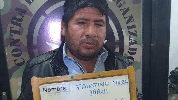 La Fiscalía acusa a Faustino Yucra de estar detrás de la voz con que supuestamente hablaba Evo Morales para bloquear la entrada de alimentos en algunas ciudades. (Policía boliviana)