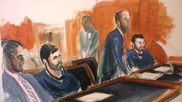 Efraín Antonio Campo Flores y Franqui Francisco Flores de Freitas durante el juicio. (El Nacional)