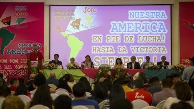 """""""El Foro de Sao Paulo se ha erigido en casa matriz de lo ilícito y ha articulado una red de gobiernos encabezada por corruptos"""", asegura el autor. (EFE)"""