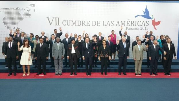 Foto oficial de jefes de estado de las Américas (14ymedio)