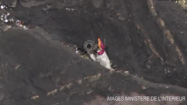 Fotograma de un vídeo difundido por el ministerio de Interior francés de la zona del siniestro. (Ministère de l'Intérieur)