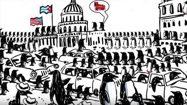 Fotograma del vídeo del evento Todos por Cuba Libre.