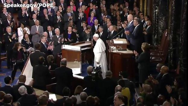El papa Francisco en el Congreso de EE UU. (@SpeakerBoehner)