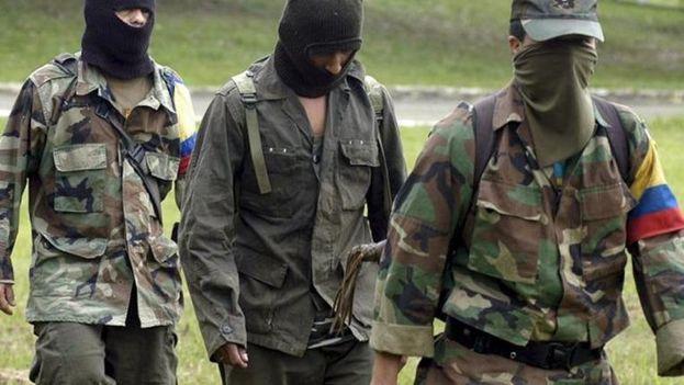 Imagen de archivo de unos guerrilleros de las Fuerzas Armadas Revolucionarias de Colombia. (EFE)